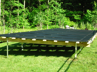 APEX Thermal Services installed Ground-Mounted Solar Thermal Pool Collectors, North Salem, Westchester, County, NY