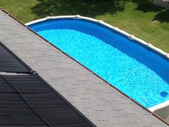 APEX Thermal Services installs a Roof-Mounted Solar Pool Heating System in Danbury, CT
