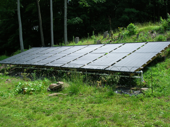 Nine Solar Pool Heating Collectors, Ground Mounted, Briarcliff Manor, Westchester County, NY