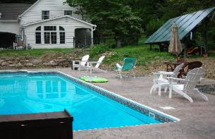 Solar Pool Heating, Domestic Water and Space Heating System, Central Valley, Orange County, NY