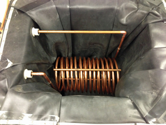 Copper Heat Exchanger Coil and Storage Tank built by APEX Thermal Services, Ulster County Community College, Pound Ridge, NY