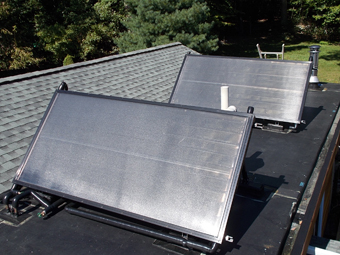 Flat Roof Solar Water Heating System Install, Chestnut Ridge, Rockland County, NY