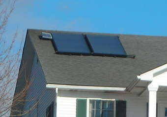 Off-Grid, PV-Pumped Solar Hot Water System installed by APEX Thermal Services, Verbank, Dutchess County, NY