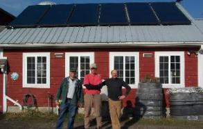 Shushan, Washington County, NY Sheep Farm gets a Solar Thermal System, Alan Paul, farm owner and Peter Skinner