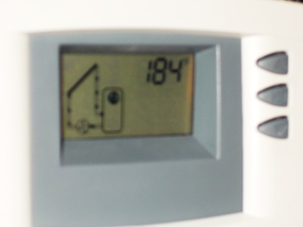 Solar HOT Water, Solar Water Heating System temperature reading after a good day of sun, Olivebridge, Ulster County, NY