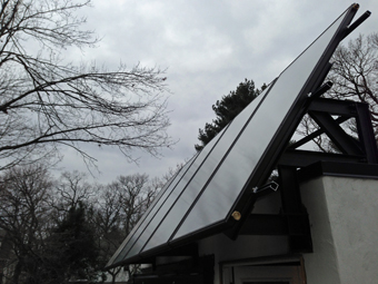 Solar Thermal Drainback System installed at Zenesis Zero-Energy Home Demonstration Site - Paramus, NJ