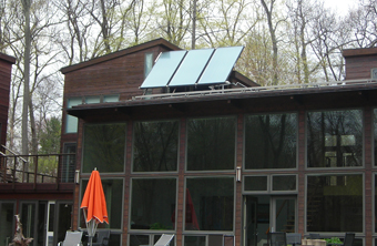 Three-Collector Solar Hot Water Drainback System installed by APEX Thermal Services, Croton-on-Hudson, Westchester County, NY