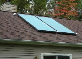 Two AET 4'x10' Solar Thermal Drainback System installed by APEX Thermal Services in Saugerties, Ulster County, NY