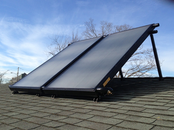 Two-Collector Solar Hot Water System installed by APEX Thermal Services, Valhalla, Westchester, County, NY