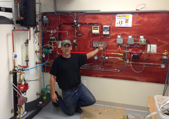 Ulster County Community College Solar Water Heating and Radiant Heating Controls designed and installed by Alan Paul, Founder of APEX Thermal Services