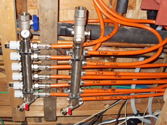 Six-Loop Radiant Heating Distribution Manifold serving Radiant Heating System in Chestnut Ridge, NY, Rockland County