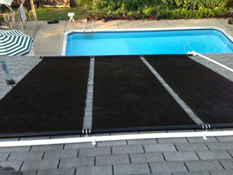 Roof-Mounted Solar Pool Heating System - North Brunswick, NJ, Middlesex County
