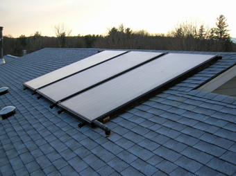 Three-Collector Solar Thermal Drainback System, South Salem, NY, Westchester Co NY