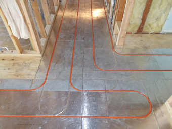 Radiant Heating System - above the subfloor - installed by APEX Thermal Services, Chestnut Ridge, Rockland County, NY