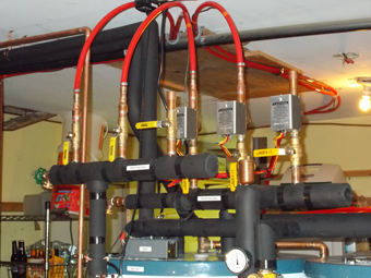 Zone Valves installed for Solar Water-Heating, Space-Heating System - Installed by APEX Thermal Services, Olivebridge, Ulster County, NY
